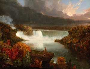 Distant View of Niagara Falls