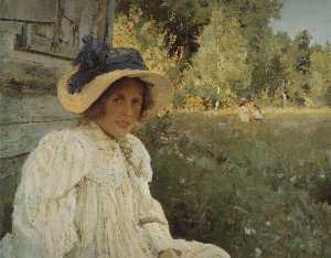 Summertime. Portrait of Olga Serova