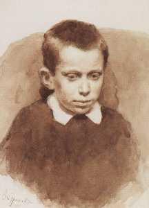 portrait de a . S . Matveev dans l'enfance
