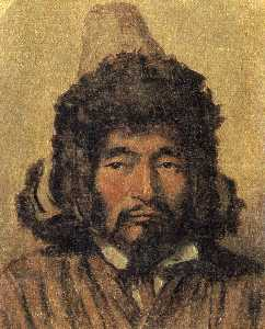 Kazakh with fur hat