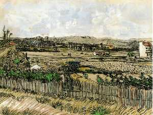 Harvest in Provence, at the Left Montmajour