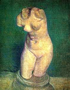 Plaster Statuette of a Female Torso