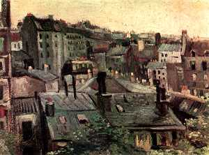 View of Roofs and Backs of Houses