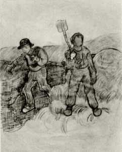 A Sower and a Man with a Spade