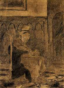 Old Woman Asleep after Rops