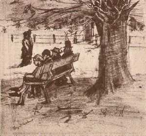 Bench with Four Persons