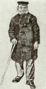 Orphan Man with Cap and Stick