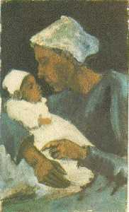 Woman Sien with Baby on her Lap, Half-Figure