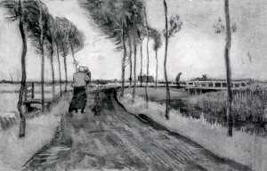 Landscape with Woman Walking
