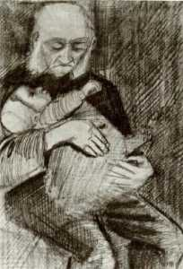 Orphan Man with a Baby in his Arms