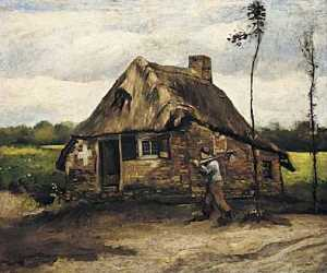 Cottage with Peasant Coming Home