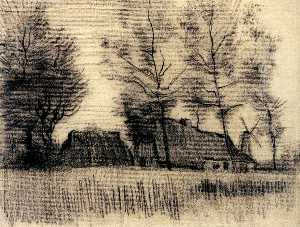 Landscape with Cottages and a Mill