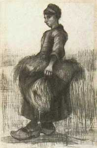 Peasant Woman, Carrying Wheat in Her Apron