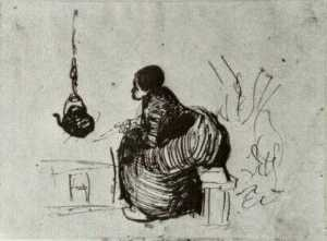Peasant Woman, Sitting by the Fire