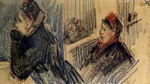 Two Women in a Balcony Box