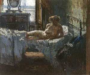Mornington Crescent nude, contre-jour