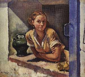 Collioure . Katia auf dem terrasse