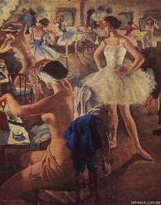 In the dressing room ballet (Swan Lake)