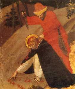 St Pierre Martyr retable  détail