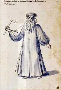 Kostüm von dem allegorische figur ''Geometry''