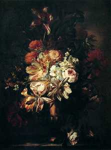 Flowers in a Bronze Vase