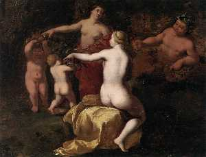 Bacchus and Nymphs in Landscape (detail)