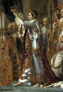 Consecration of the Emperor Napoleon I (detail)