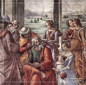 Zacharias Writes Down the Name of his Son (detail)