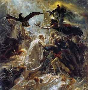 Ossian Receiving the Ghosts of French Heroes