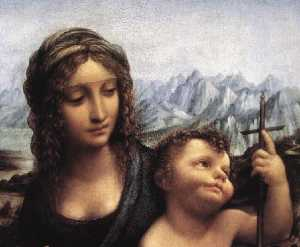 Madonna with the Yarnwinder (detail)