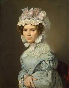 porträt von einem dame in blau kleid