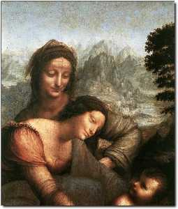 The Virgin and Child with St Anne (detail)