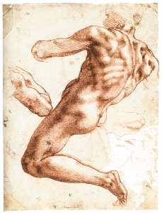 Sitting Male Nude (recto)
