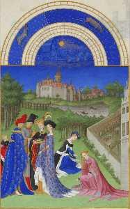 Les très riches heures du Duc de Berry: Avril (April)
