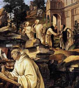 Apparition of The Virgin to St Bernard (detail)