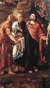 The Miracle of the Loaves and Fishes (detail)