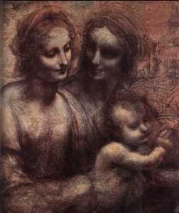 Madonna and Child with St Anne and the Young St John (detail)