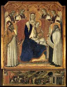 Madonna with Angels between St Nicholas and Prophet Elijah