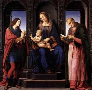 The Virgin and Child with St Julian and St Nicholas of Myra
