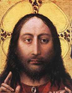 Blessing Christ and Praying Virgin (detail)