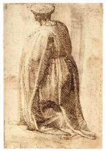 Kneeling Man (verso)