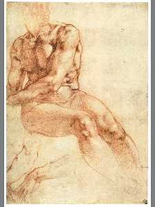 Nude Study of a Sitting Youth (recto)