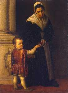 Portrait of a Boy with his Nurse