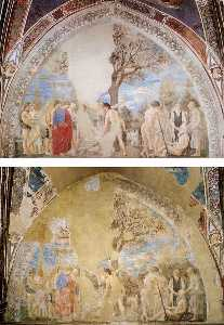 Scene after and before restoration