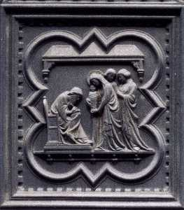 Naming of the Baptist (panel of the south doors)