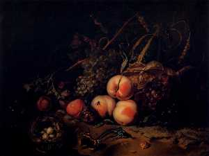 Still-Life with Fruit and Insects