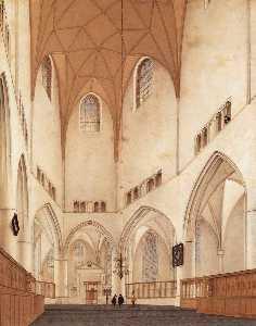 Interior of the Choir of Sint-Bavokerk at Haarlem