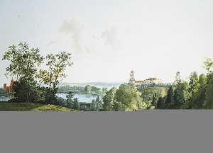 Landscape with a Farm in the Park in Tsarskoye Selo