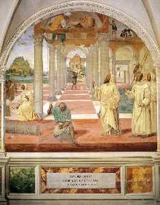 Life of St Benedict, Scene 11: Benedict Founds Twelve Monasteries