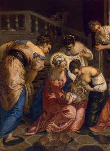 The Birth of John the Baptist (detail)